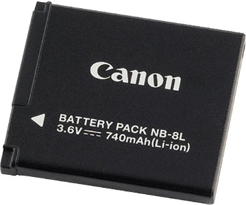Canon Rechargeable Li-Ion Battery #NB-8L