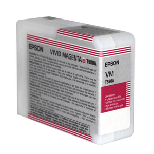 Epson UltraChrome K3 Ink Cartridge Vivid Magenta 80ml for 3880 #T580A
