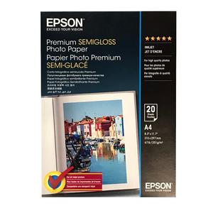 Epson Premium Semi Gloss Photo Paper 251gsm A4 - 20 Sheets