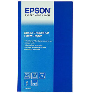 Epson Traditional Photo Paper 330gsm A2- 25 Sheets