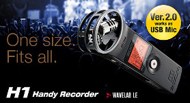 Zoom H1 Handy Recorder V2 + Accessories Pack