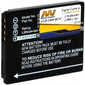 Generic DMW-BCH7 Rechargeable Li-Ion Battery for Panasonic Digital Cameras