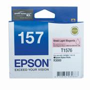 Epson 157 UltraChrome K3 Vivid Light Magenta (T1576) Ink Cartridge for R3000