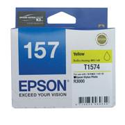 Epson 157 UltraChrome K3 Yellow (T1574) Ink Cartridge for R3000