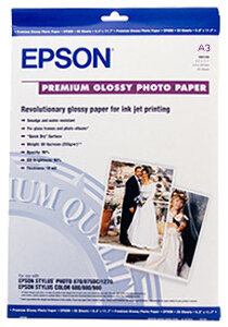Epson Premium Glossy Photo Paper 255gsm A3 - 20 Sheets