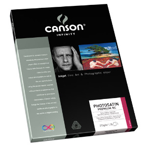Canson Infinity PhotoSatin Premium RC 270gsm A4 – 25 Sheets