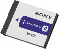 Sony Info Lithium D Series Rechargeable Battery #NPFD1