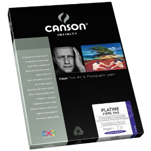 Canson Infinity Platine Fibre Rag 310 gsm A4 - 25 Sheets