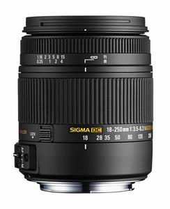 Sigma Lens 18-250mm f/3.5-6.3 DC OS Macro HSM
