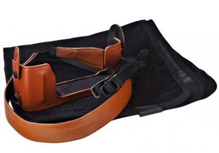 Fujifilm BLC-XE1 Leather Bottom Case for X-E1 - Brown