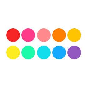 Elinchrom Gel Set - 10 Colour Filters for Fibre Lite #26438