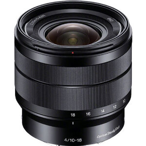 Sony 10-18mm f/4 OSS E-Mount Super Wide-Angle Zoom Lens