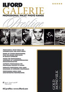 Ilford Galerie Prestige Gold Mono Silk 270gsm Professional Inkjet Paper A4 25 Sheets