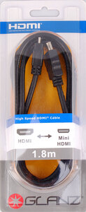 Glanz HDMI (A) to HDMI Mini (C) – 1.8 Metres