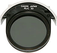 52mm - Canon Drop-In Circular Polarising Filter #PLC52