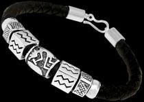 Silver Beaded Bracelets