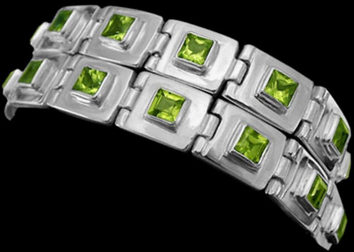 Peridot and Sterling Silver Chokers MC13