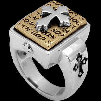 Religious Jewelry - Gold Plated and .925 Sterling Silver Cross Rings R381