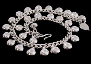.925 Sterling Silver Anklets B615A