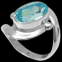 Blue Topaz and .925 Sterling Silver Rings MR22