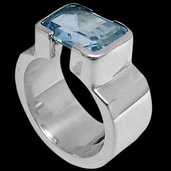Men's Jewelry - Topaz and .925 Sterling Silver Ring R358tp