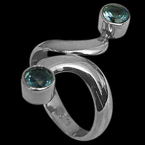 Womens Jewelry - Topaz and Sterling Silver Rings R600