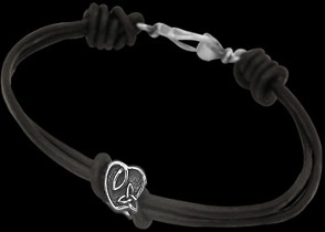 .925 Sterling Silver Celtic Beads and Black Leather Bracelets - Celtic Beads ANIXI103