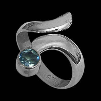 Womens Jewelry - Topaz and Sterling Silver Rings R578