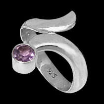 Womens Jewelry - Amethyst and Sterling Silver Rings R578
