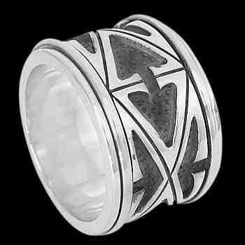 Plus Size Jewelry - Sterling Silver Spinning Rings AN200L - Plus Sizes
