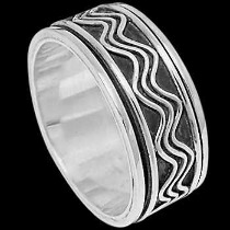 Silver Jewelry - Sterling Silver Meditation Rings R1-10043