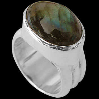 Labradorite and Sterling Silver Rings MR15