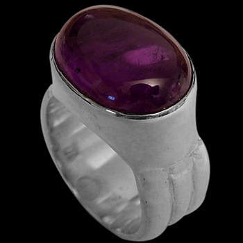 Cabochon Amethyst and Sterling Silver Rings MR15