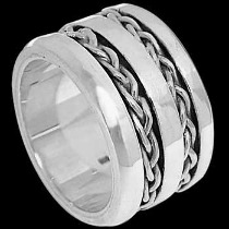 Celtic Jewelry - .925 Sterling Silver Rings - Celtic Braid Bands R1-10247