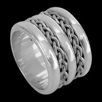 Celtic Jewelry - .925 Sterling Silver Rings - Celtic Braid Bands R1-10251