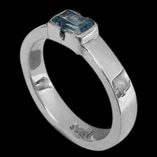 Swiss Topaz and Sterling Silver Rings R374