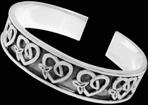 Celtic Jewelry - Sterling Silver Cuff Bracelets - Celtic Bracelet  BR1-501
