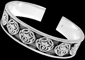 Celtic Jewelry - Sterling Silver Cuff Bracelets - Celtic Bracelet  BR1-502