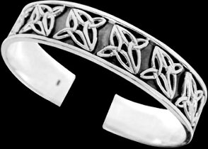 Celtic Jewelry - Sterling Silver Cuff Bracelets - Celtic Bracelet  BR1-505