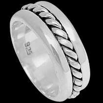 Celtic Jewelry - .925 Sterling Silver Rings - Milgrain Bands R1-10262