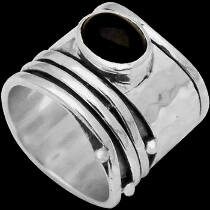 Men's Jewelry - Black Onyx and .925 Sterling Silver Rings R035onyx