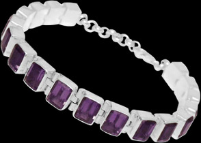 Amethyst and Sterling Silver Bracelets B2