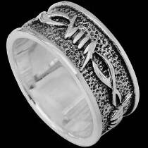 Gangster Jewelry - .925 Sterling Silver Rings R1-10466 - Barbed Wire Bands