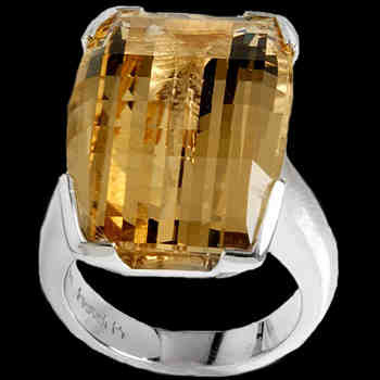 Heidi K Rings - Golden Yellow Citrine and Sterling Silver Rings HK2100