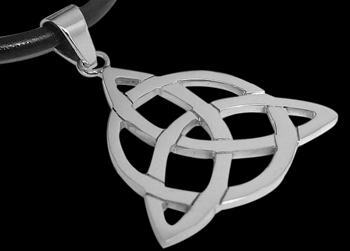 Woman's Jewelry - Sterling Silver Triquetra Knot Celtic Pendants PE CH1