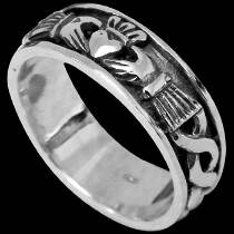 Celtic Jewelry - .925 Sterling Silver Rings R767-83 - Claddah Bands