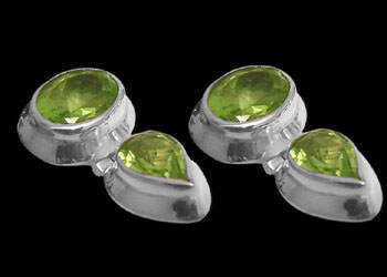 Peridot and Sterling Silver Earrings ES334