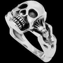Gangster Jewelry - .925 Sterling Silver Rings R768-169 - Skull Bands