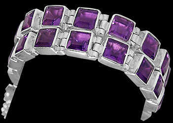 Amethyst and .925 Sterling Silver Chokers MC4