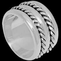 Celtic Jewelry - .925 Sterling Silver Rings - Dual  Milgrain Bands R1-10263